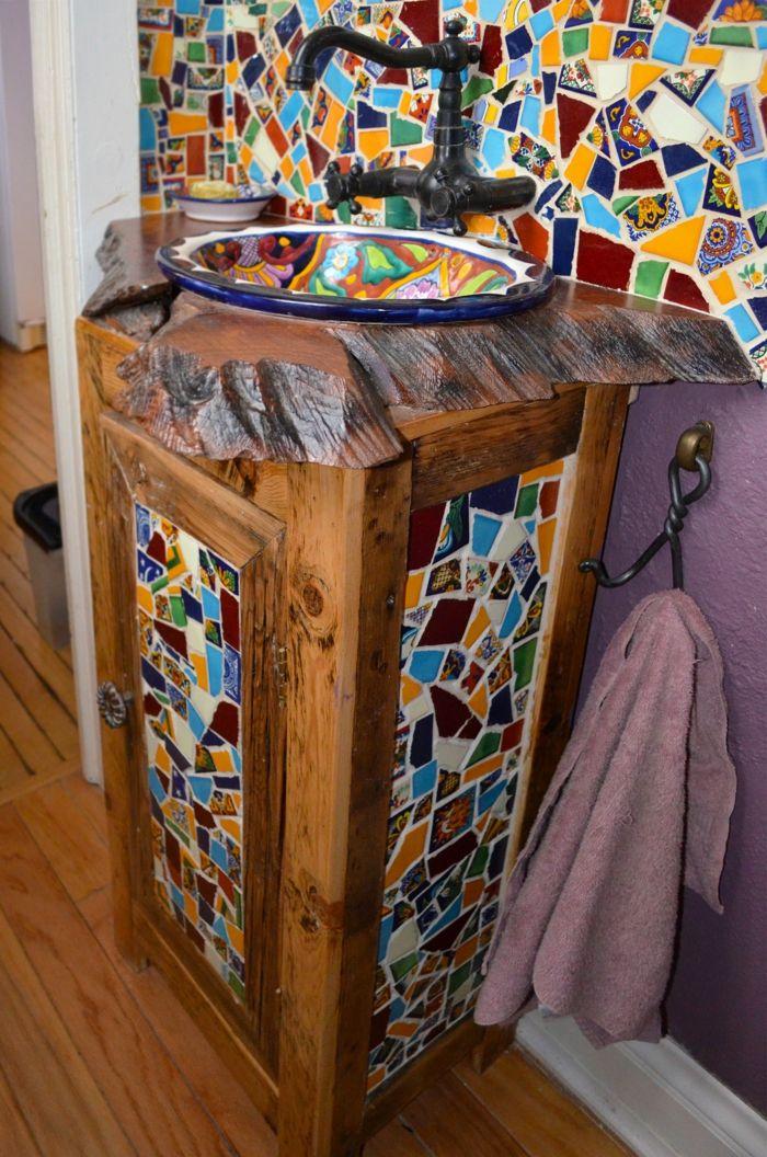 badezimmerfliesen im blickfang 100 ideen f r designs und muster bad ideen pinterest. Black Bedroom Furniture Sets. Home Design Ideas