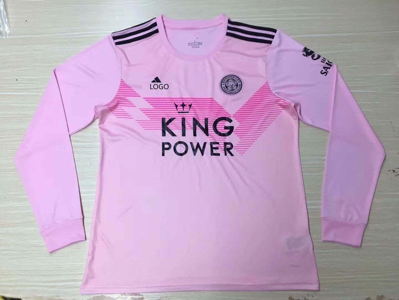 19 20 Men Fan Version Leicester City Away Long Sleeve Soccer Jersey