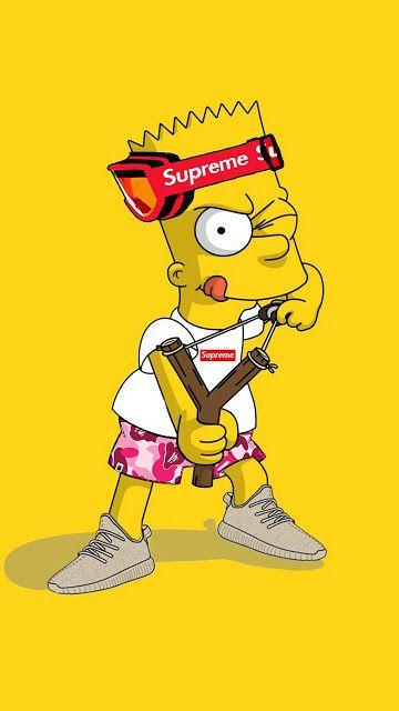 Bart Simpson Wallpaper Hd Fond D 233 Cran Iphone Nike Fond