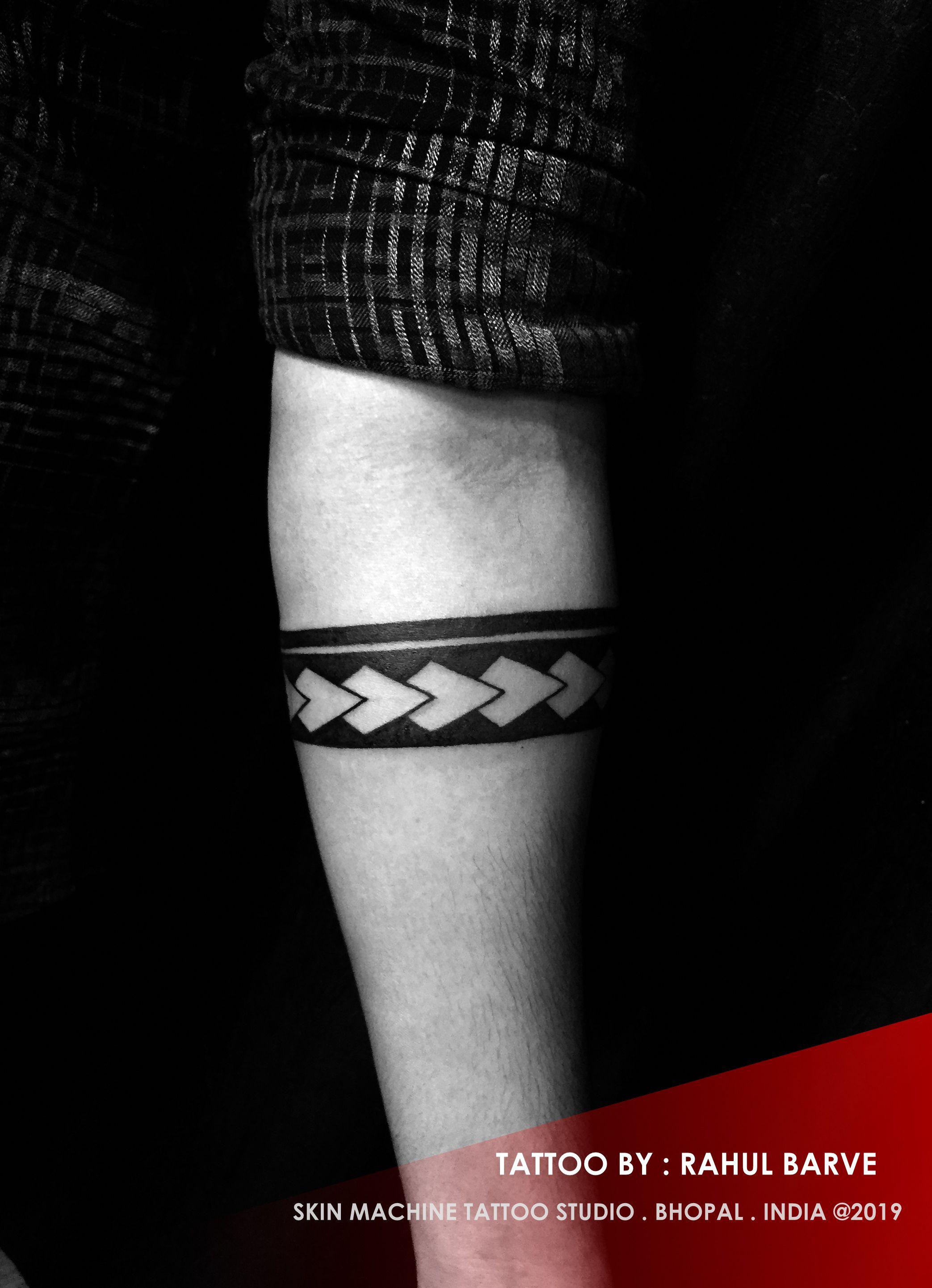Tribal Armband By Rahul Barve Skin Machine Tattoo Studio Skinmachinetattoo Email For Appointments Forearm Band Tattoos Trishul Tattoo Designs Hand Tattoos