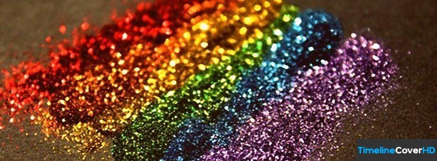 Rainbow Glitter Facebook Timeline Cover Hd Facebook Covers