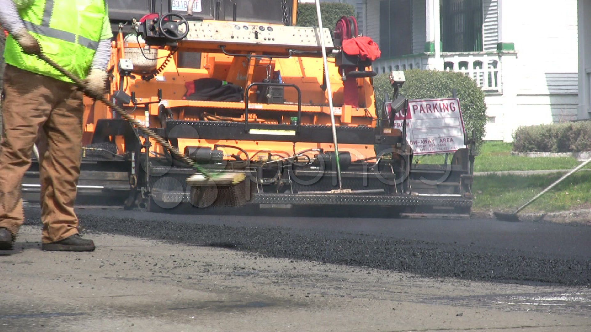 Workers Apply Asphalt City Street Road Repair Municipal Crew Roadwork Pothole Stock Footage Ad City Street Road Workers