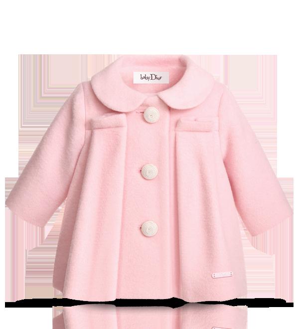 Baby Dior Light Pink Coat.png 600×660 píxeles | Bebes y niños