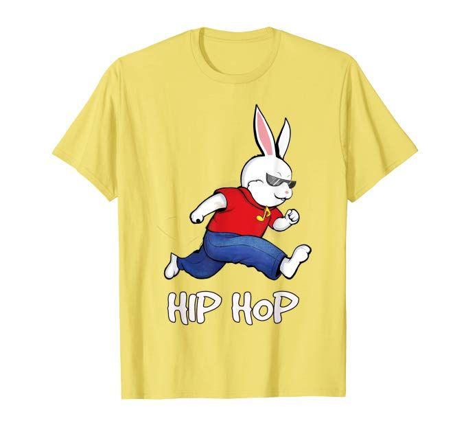 bc12365a3 Amazon.com: hip hop cool bunny easter rabbit shirt kids men women gift:  Clothing