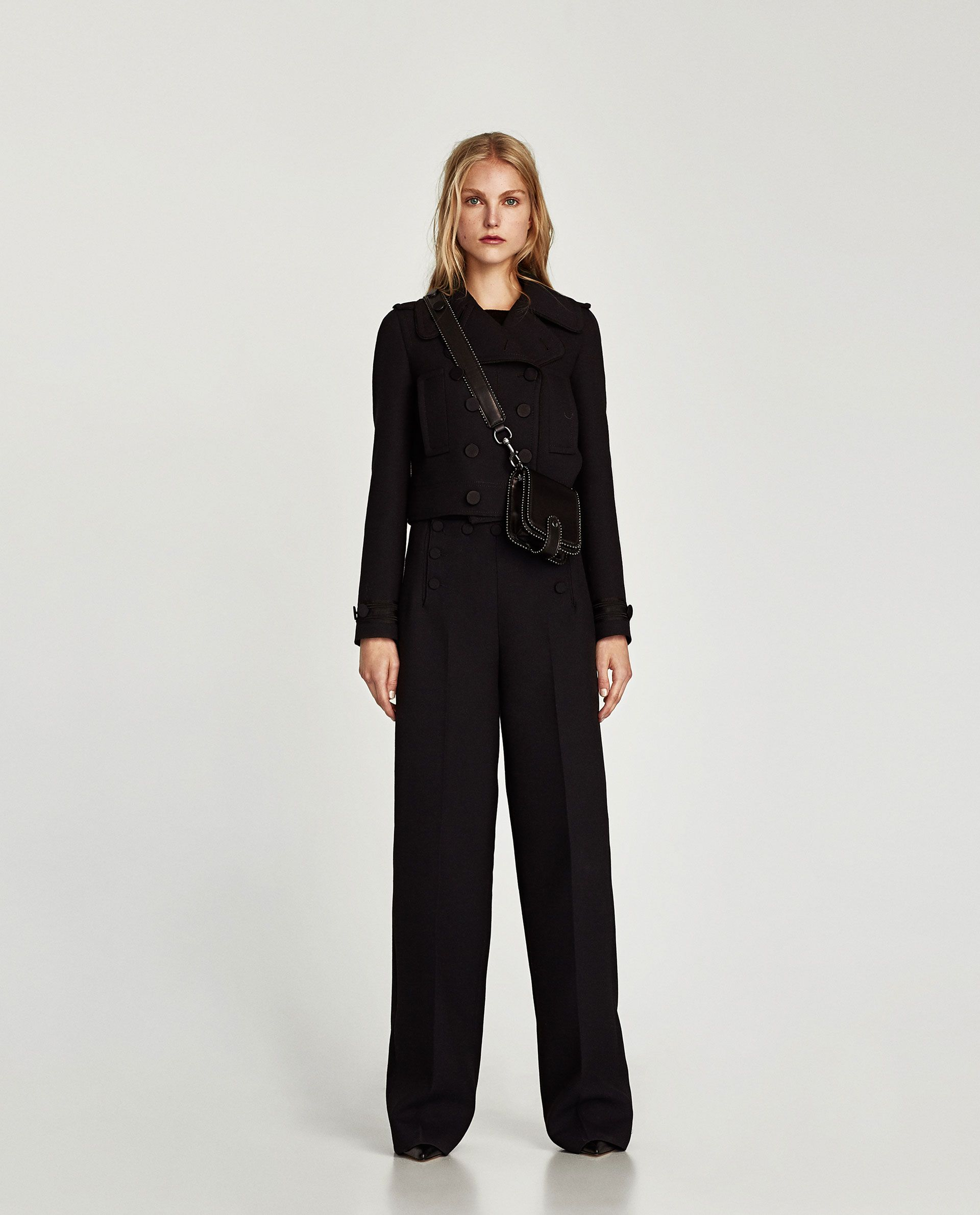 Image of trousers with front buttons from zara autumn wishlist