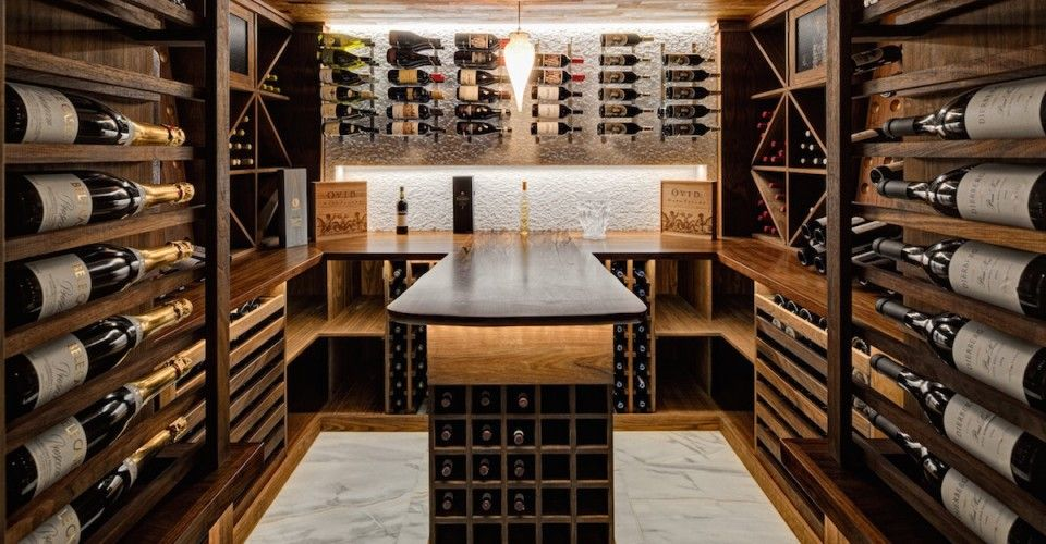A Modern Custom Wine Cellar With Rustic Flair & A Modern Custom Wine Cellar With Rustic Flair | Wine cellars Wine ...