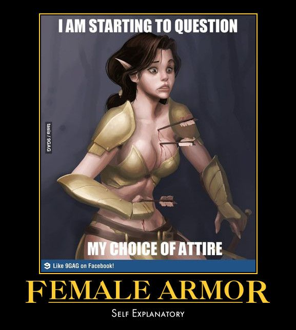 Can Fantasy female armor meme