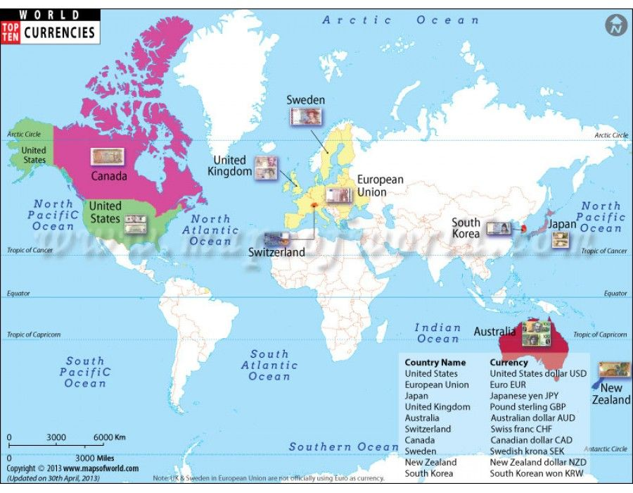Buy world map of top ten richest countries with currency top ten buy world map of top ten richest countries with currency gumiabroncs Images