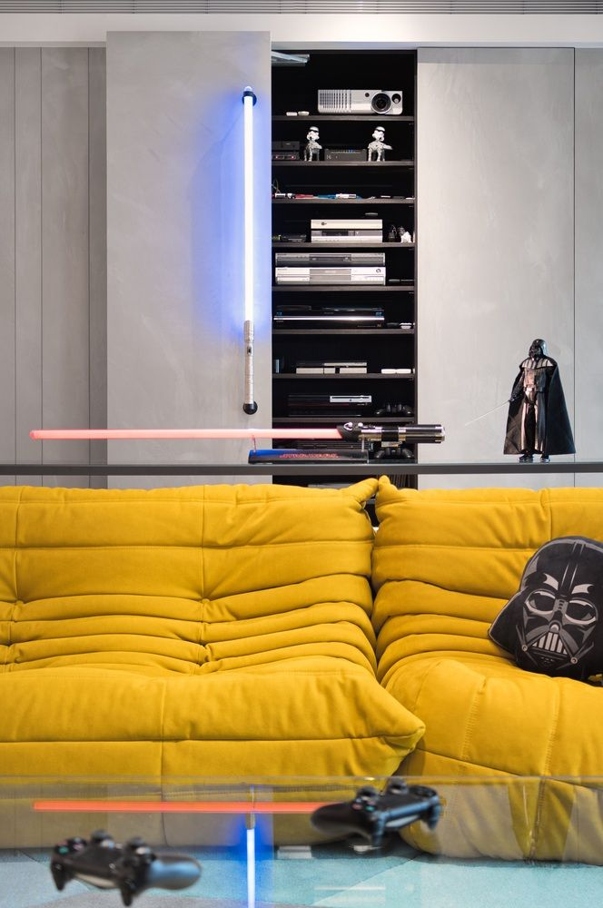 Gallery Of Star Wars Home White Interior Design 8 White Interior Design Home Theater Installation Interior Design Games