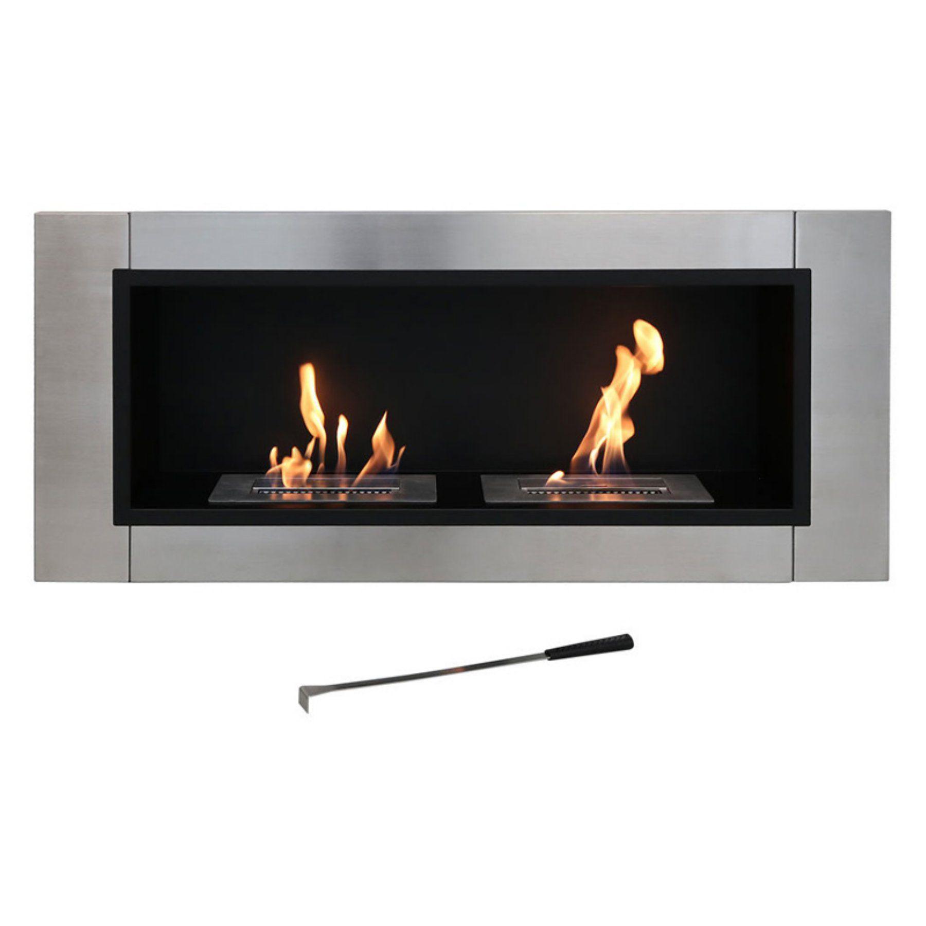 Sunnydaze Decor Scalda Ventless Wall Mounted Bio Ethanol Fireplace Yl 078 Bioethanol Fireplace Ethanol Fireplace