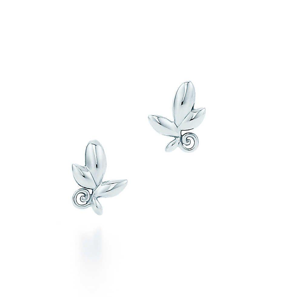 Olive Leaf Earrings Tiffany Earrings Leaf Earrings