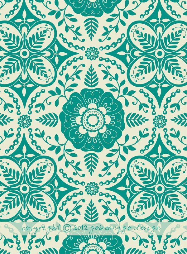 Amazing green pattern homeware google search design for Tapeten papier