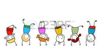 Figure Di Persone Stilizzate.Bambini Stilizzati Felici I Bambini Giocare Disegni Children