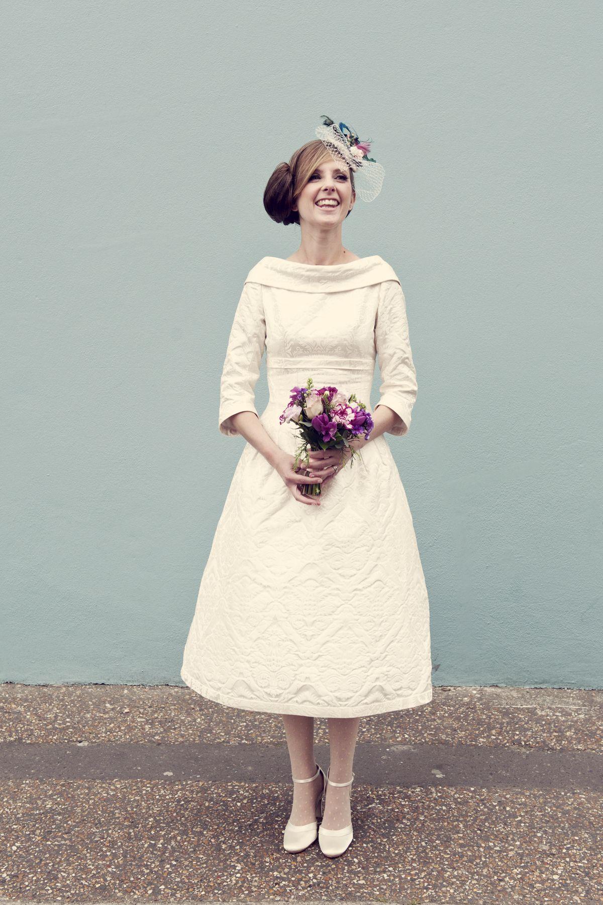 Short Wedding Dress And Stunning Heels