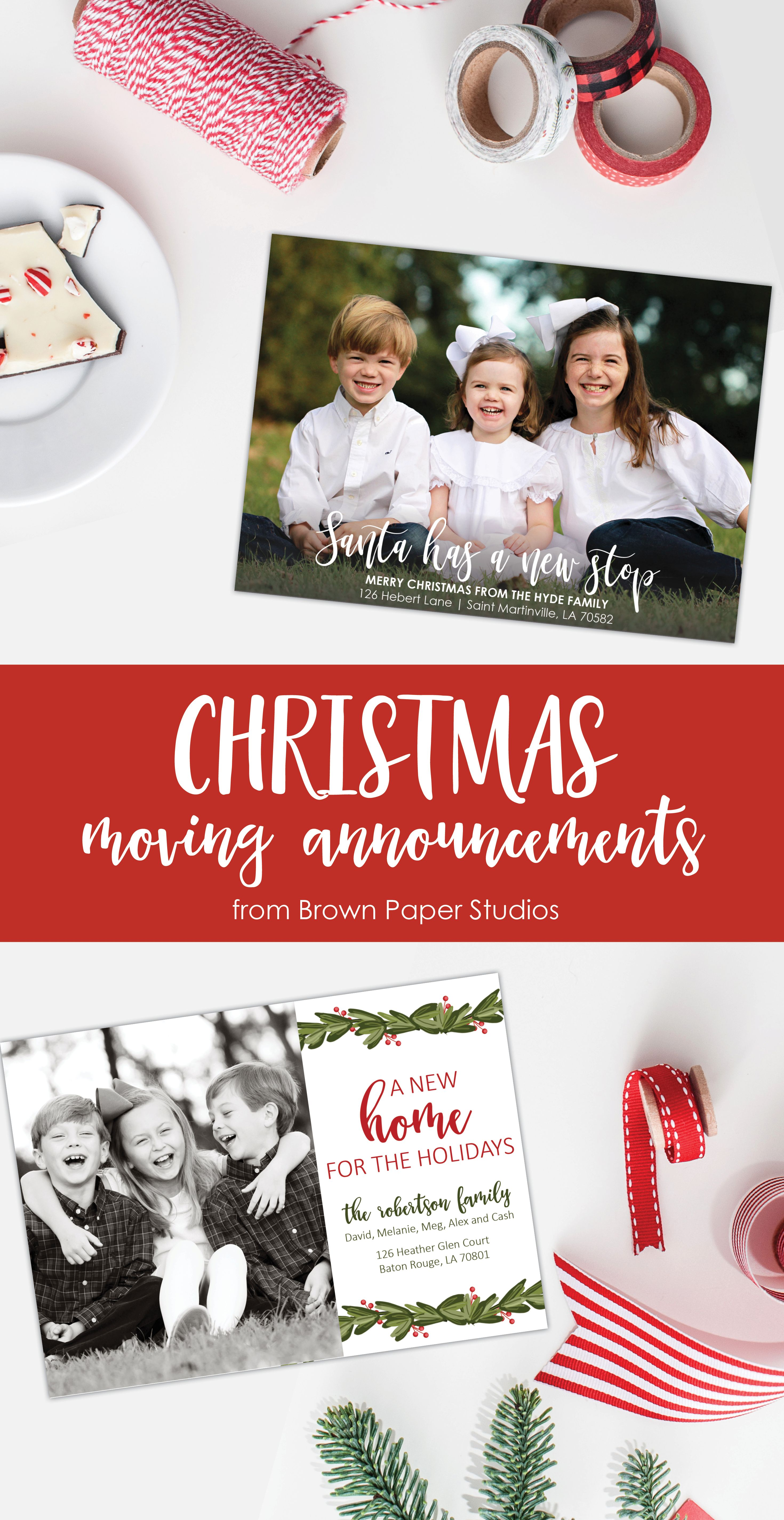 Christmas moving announcement change of address christmas cards christmas moving announcement change of address christmas cards from brown paper studios kristyandbryce Gallery