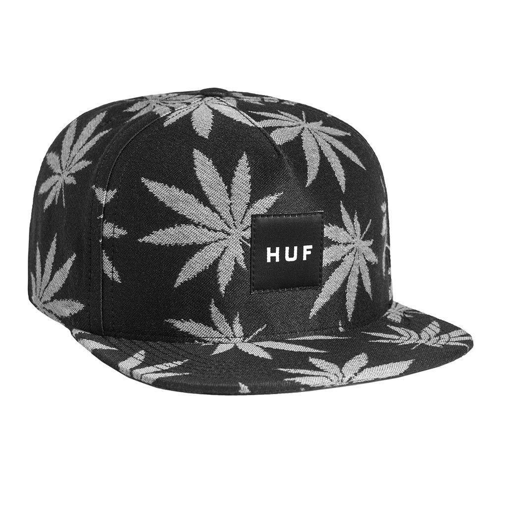 Huf Jacquard Plantlife Snapback - Black  671e59d7149