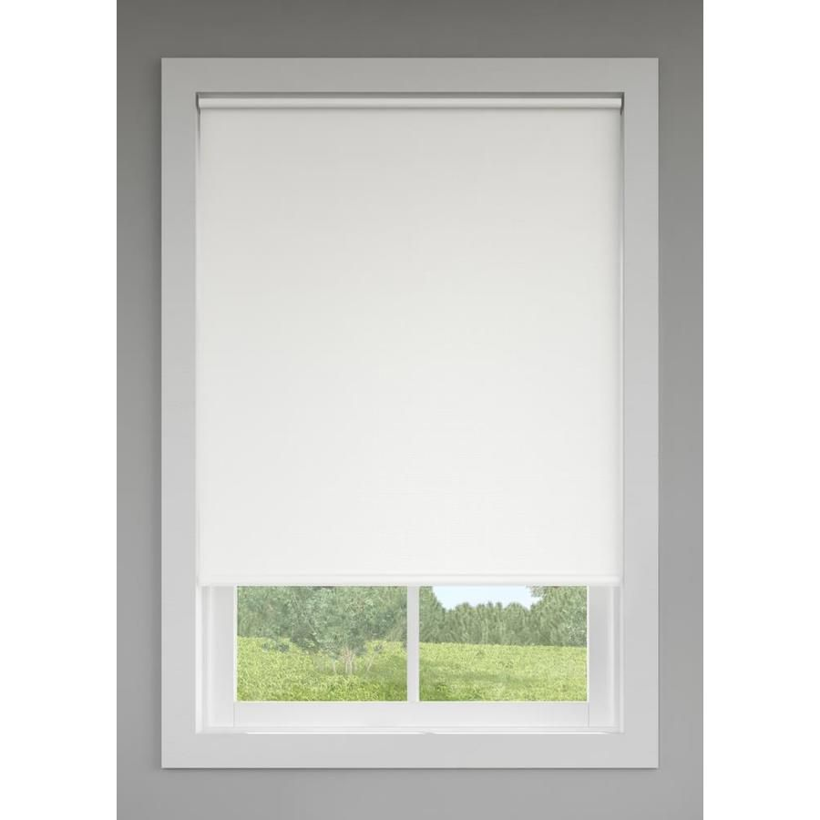 Lowes Can Trim It To Your Window Size Before Taking It Home Levolor White Blackout Cordless Viny Cordless Roller Shade Cool Curtains Shades Blinds