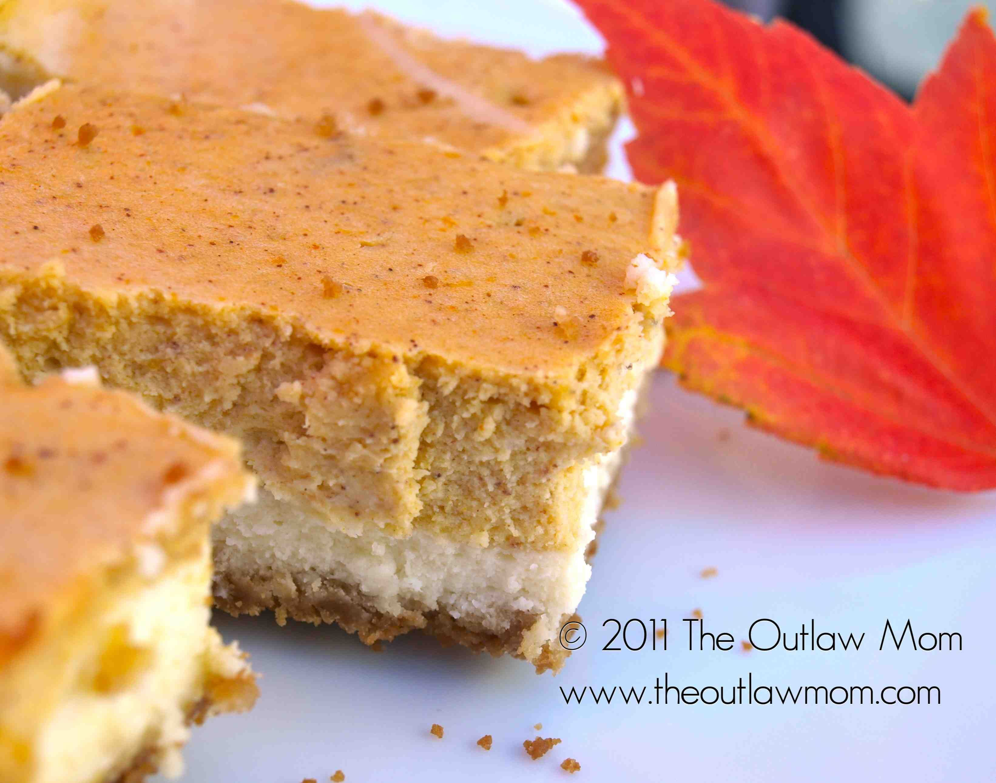 Ginger pumpkin cheesecake bars tested and approved i substituted ginger pumpkin cheesecake bars tested and approved i substituted light butter and 2 of aloadofball Image collections