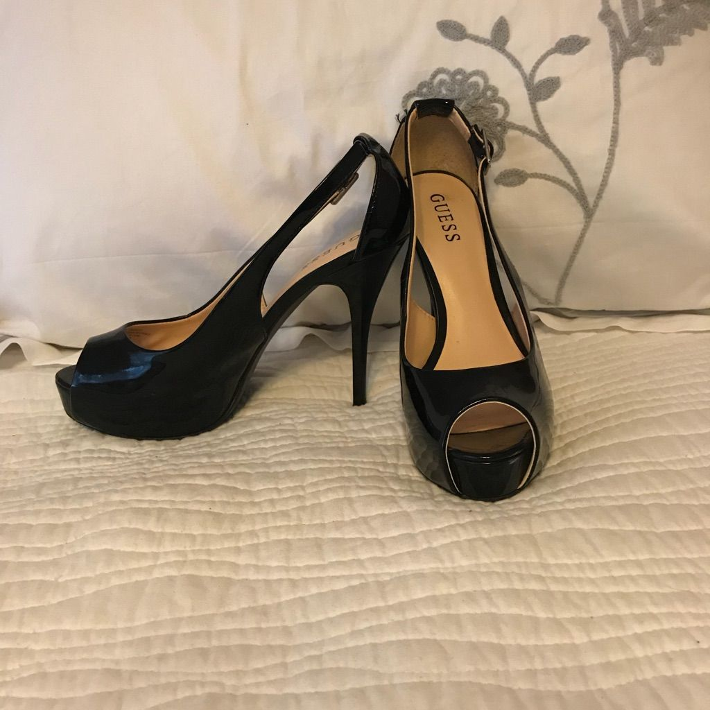 shopping the sale of shoes great quality Guess Shoes | Guess Black Patent Leather Platform Pumps ...