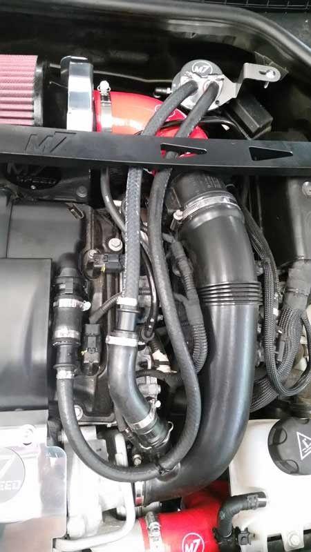 R56 Billet Aluminum Oil Catch Can Installed N18 Mini Cooper Custom Canning Kit Mini Cooper S