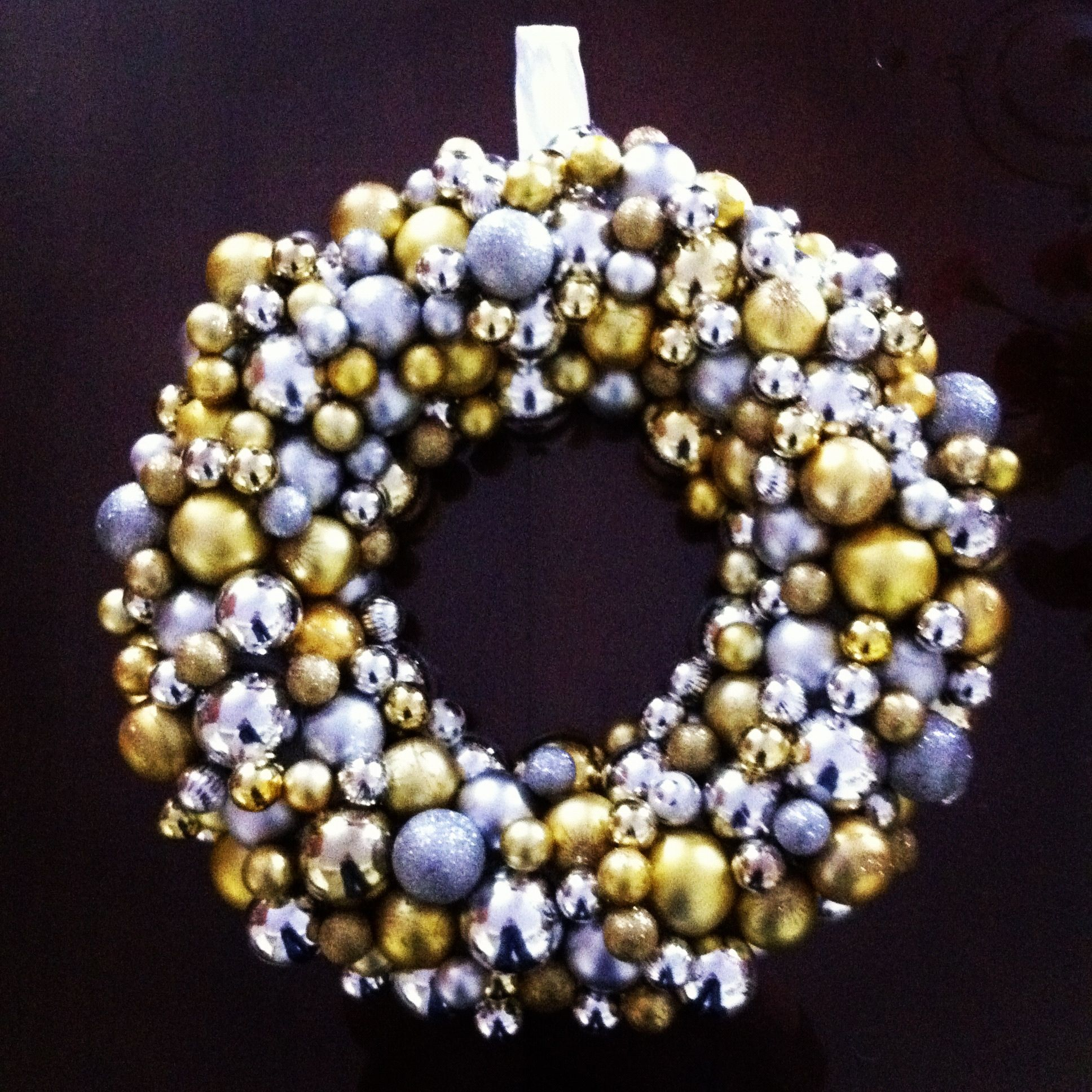 Christmas wreath Made this wreath using plastic Christmas