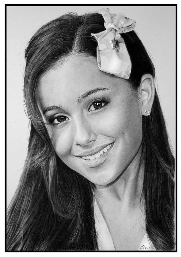 Drawings that look real ariana grande by francoclun