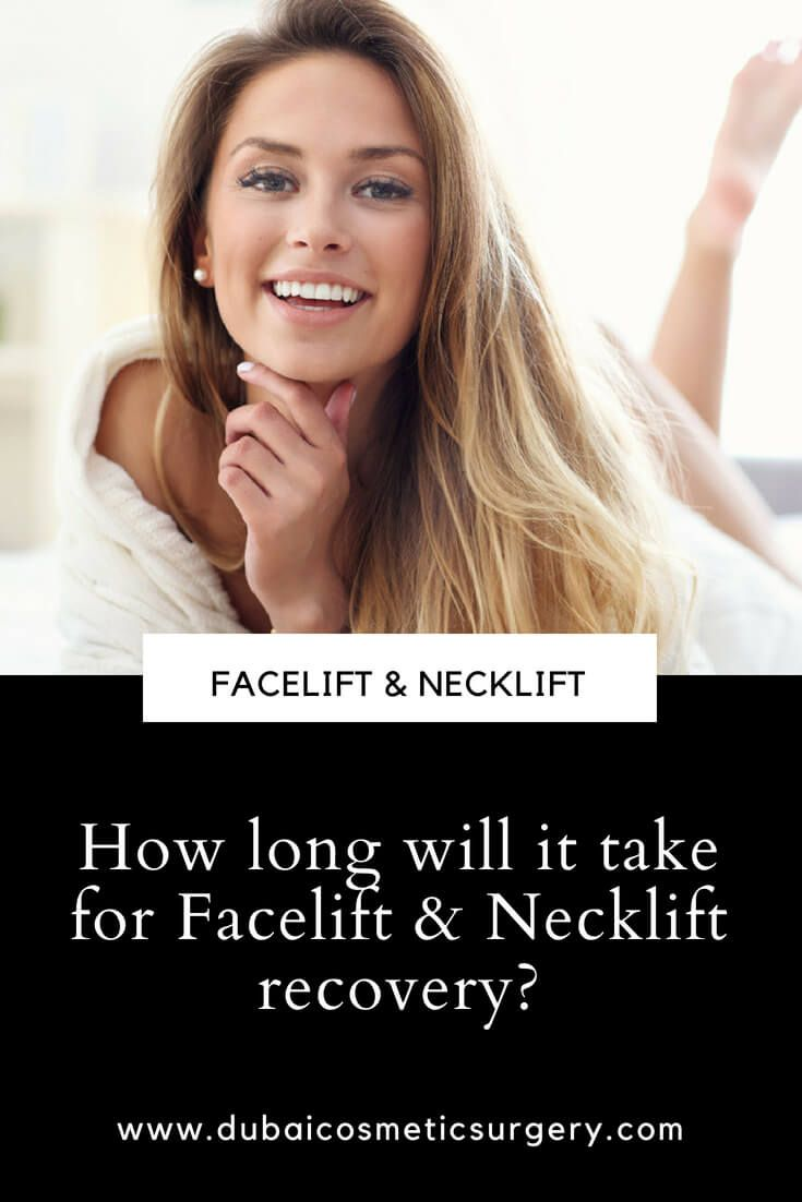 How long will it take for facelift necklift recovery