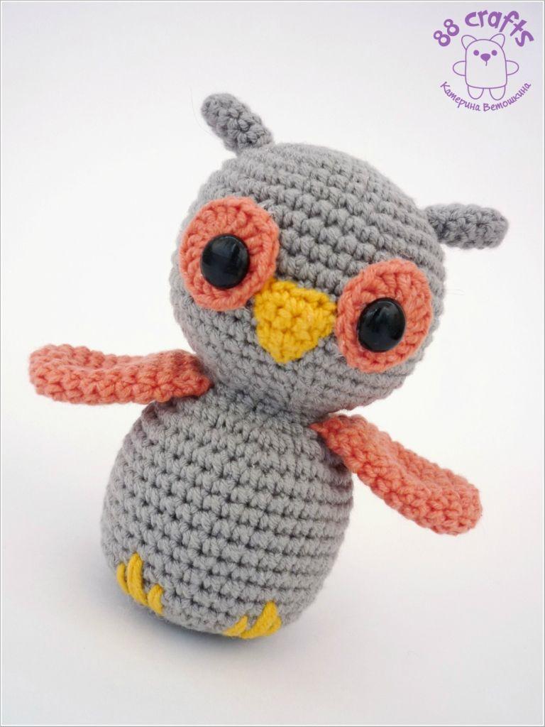 Amigurumi Owl - Free Russian Pattern http://88crafts.blogspot.ru ...