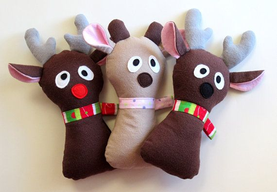 Doe a Reindeer Pattern Stuffed Animal PDF Sewing Pattern by My Funny ...