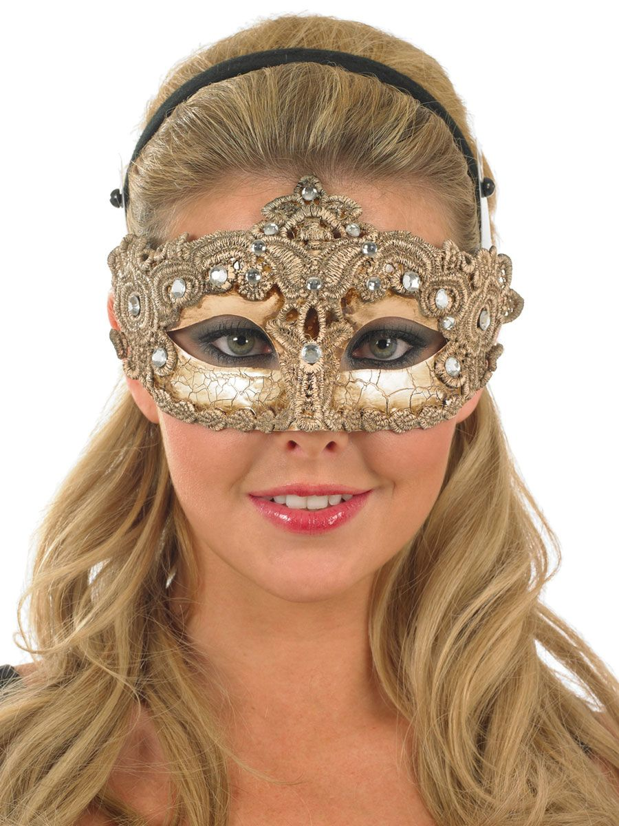 ORO METALLIZZATO maschera occhi Eye Mask Masquerade Ball Party Fancy Dress