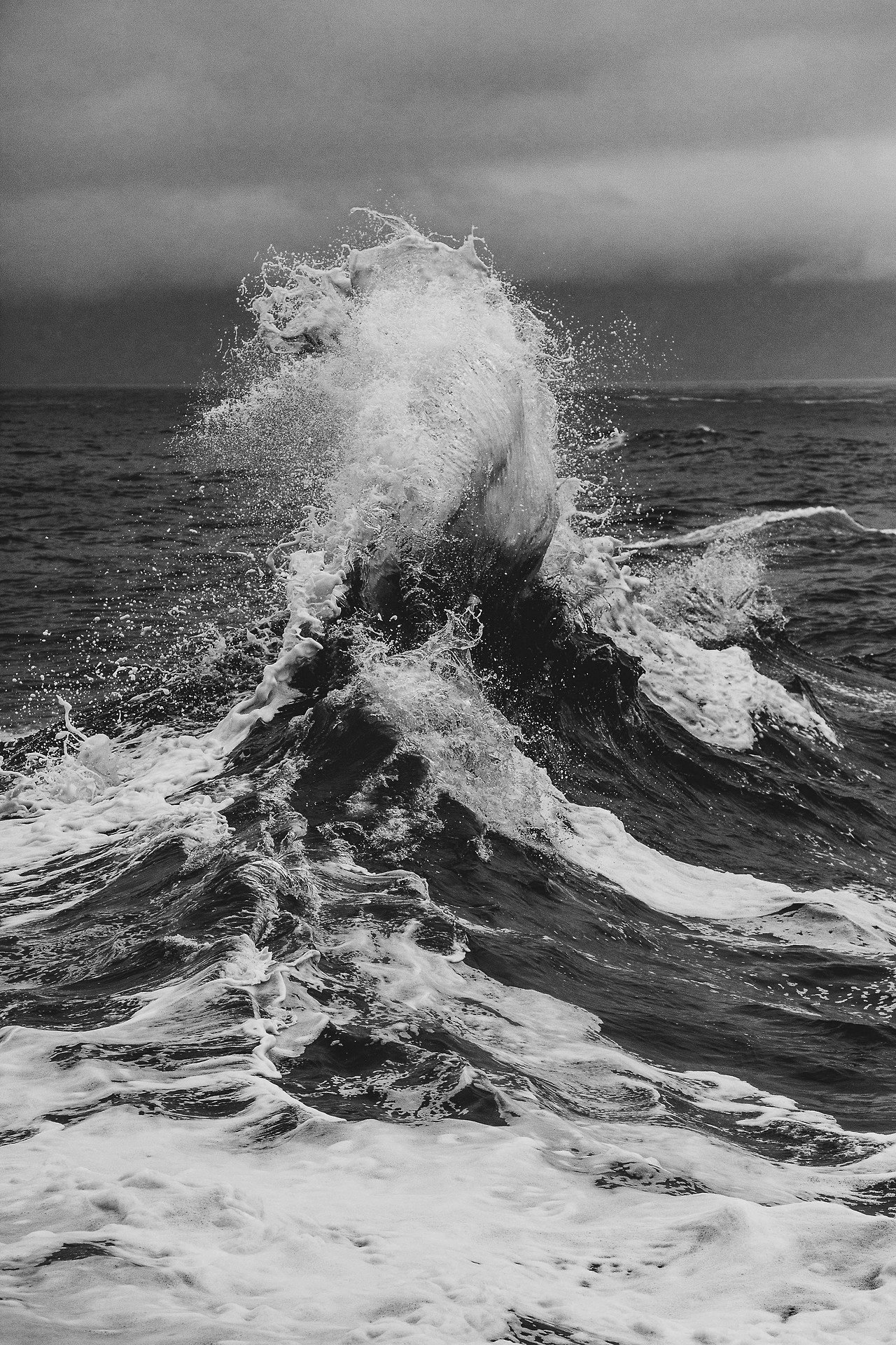 Sea crest black and white photography journal in 2019 waves