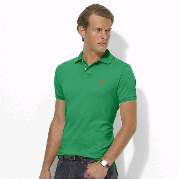 Polo Men Ralph Lauren Stickup Custom-Fit Green Orange Mesh [rl 131] -