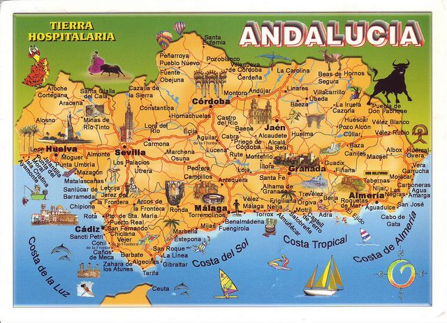 Andalucia On Map Of Spain.Andalucia Map Spain Andalusia Spain Andalusia Spain Seville