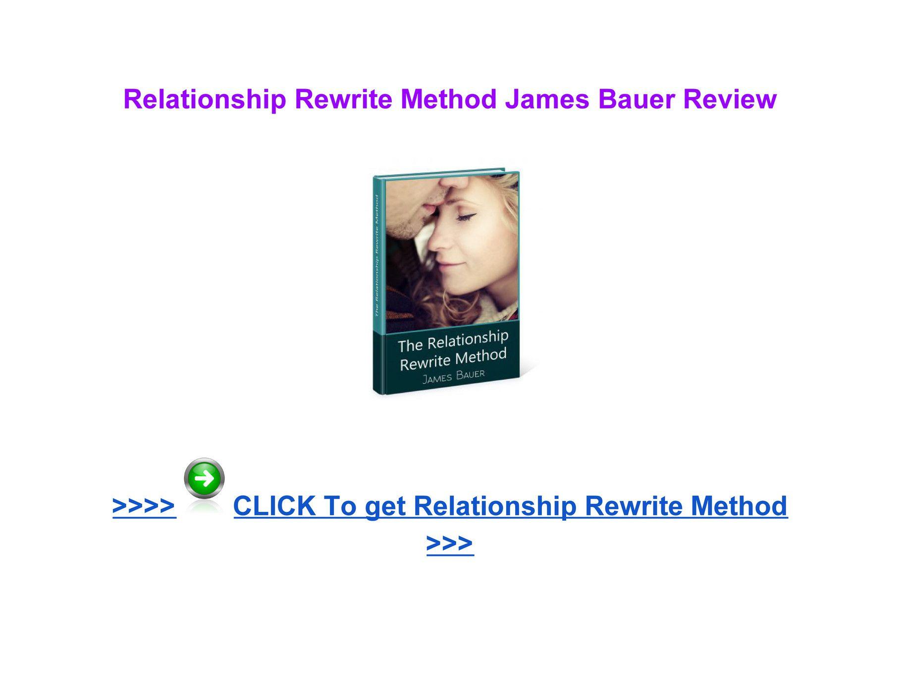 Relationship Rewrite Method James Bauer pdf download