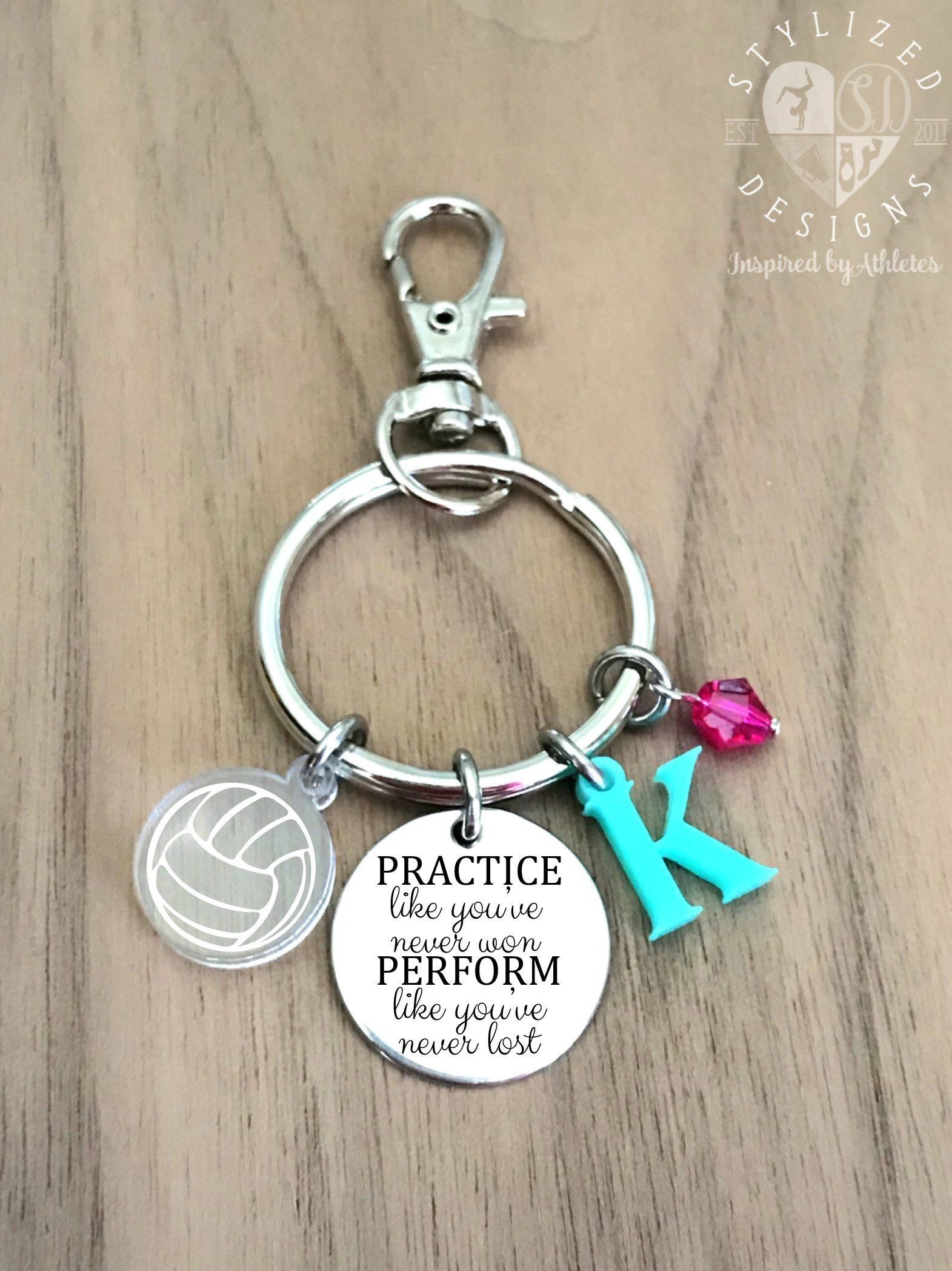 Volleyball Keychain Volleyball Keychain Personalized Volleyball Key Chain Volleyball Gifts Volleyball Gift Id Personalized Keychain Keychain Handmade Quotes