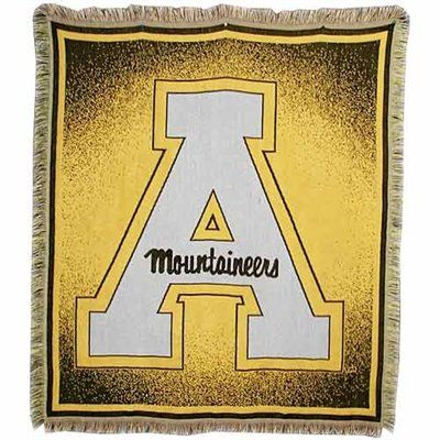 Appalachian State Mountaineers Focus Woven Throw Blanket