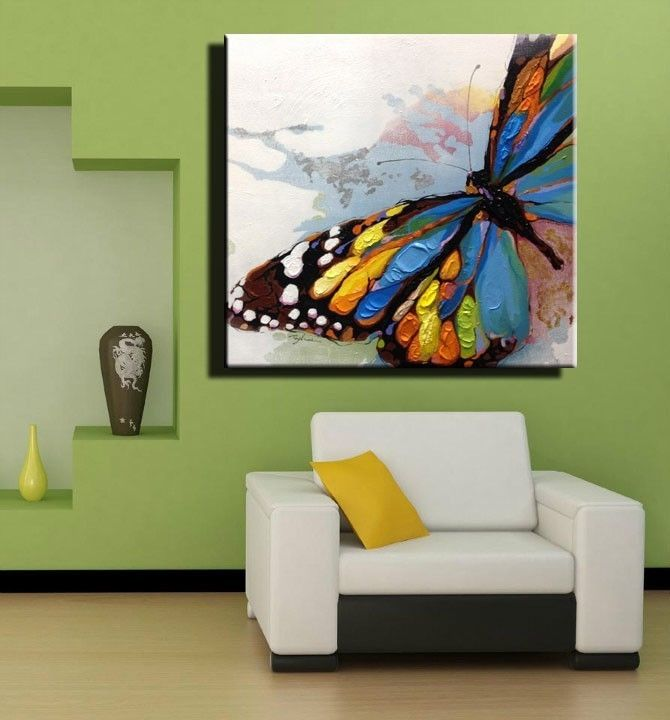 The Product Hand Painted Wall Paintings Home Decorative Butterfly Modern Abstract Oil Painting On Canvas Decor Is Sold By World Art Shop In Our Tictail