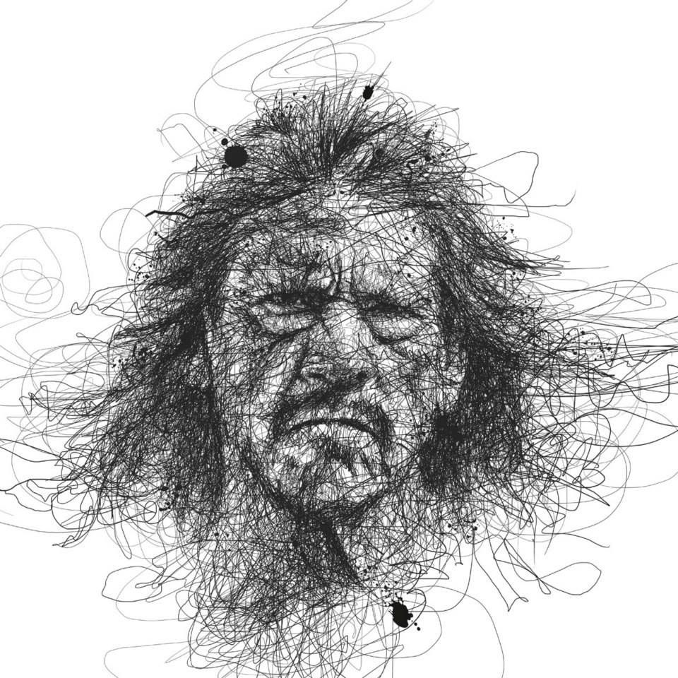 Scribble Sketch Drawing : Scribble drawing portraits super heroes art