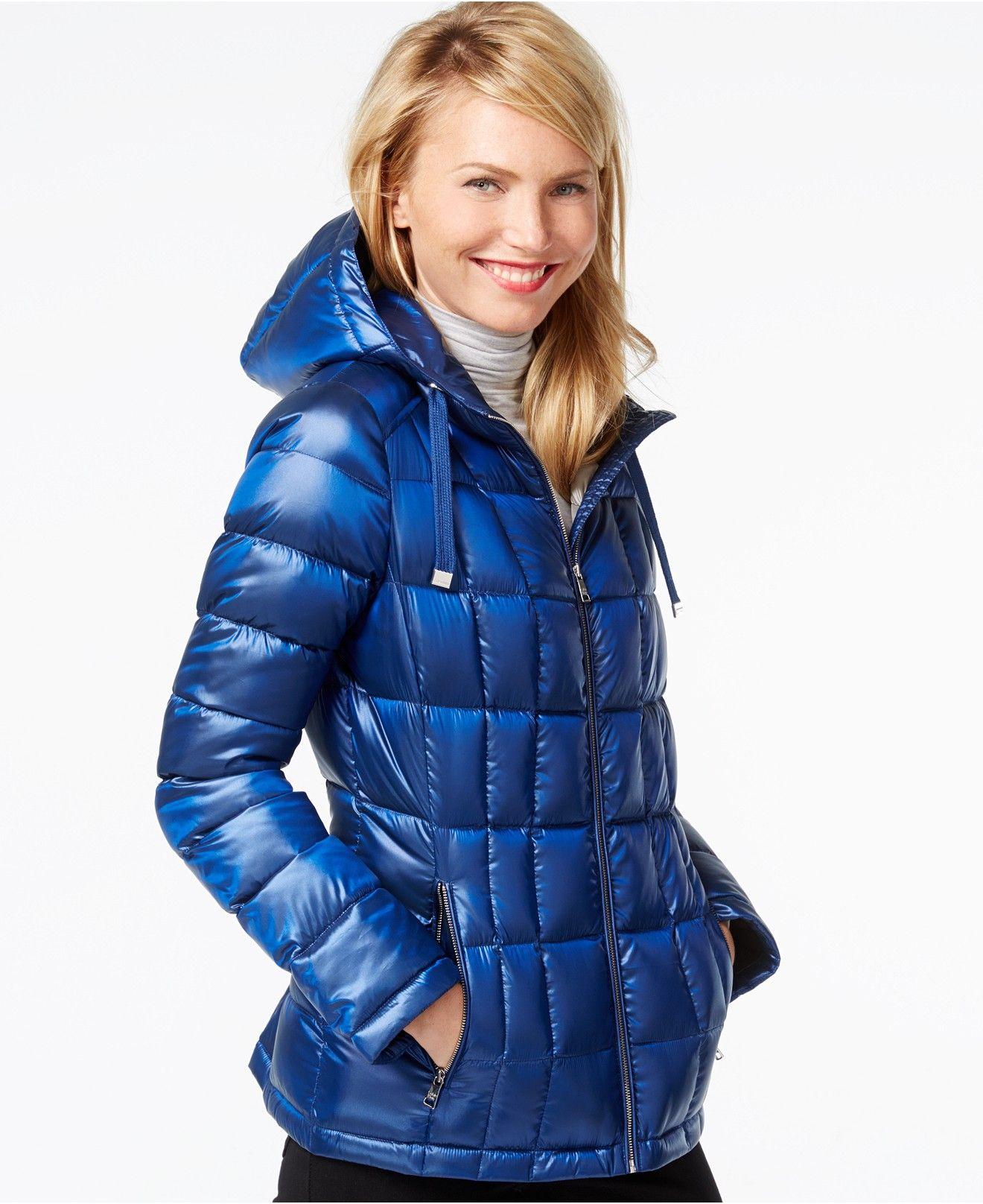 Calvin Klein Metallic Packable Down Puffer Coat Coats Women Macy S Puffer Jacket Women Down Puffer Coat Coats For Women [ 1616 x 1320 Pixel ]