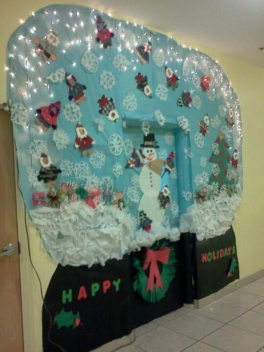 Snow Globe Christmas Classroom Door Decoration Christmas Classroom