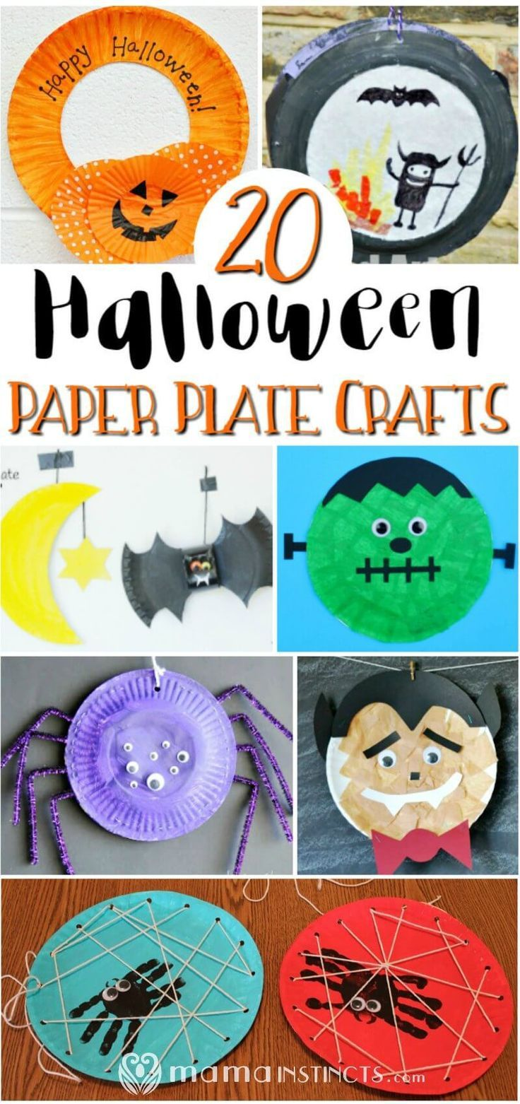 20 Halloween paper plate crafts Halloween arts and