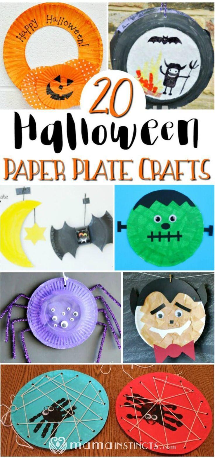 20 Halloween Paper Plate Crafts Halloween Activities