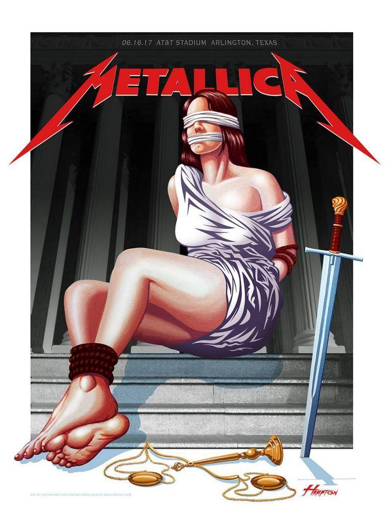Metallica in arlington texas concert poster by justin
