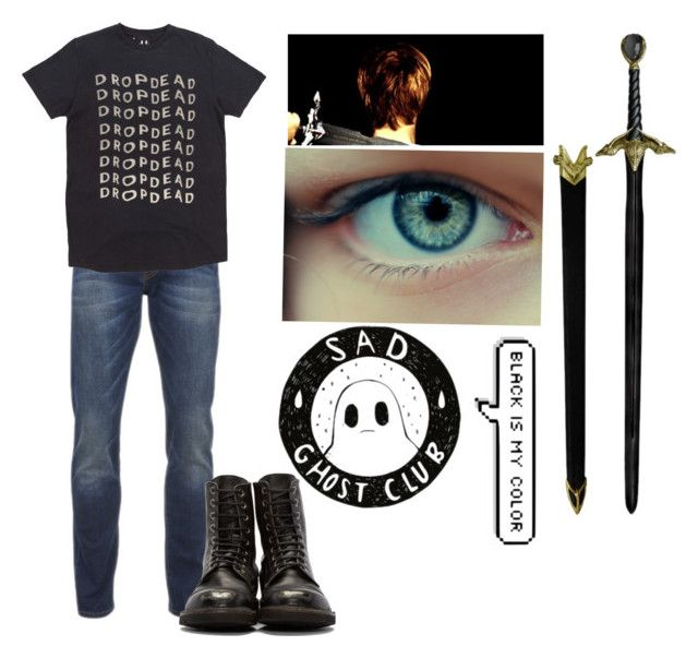 """""""Lachlan, Son of Hades"""" by lilli-girl123 ❤ liked on Polyvore featuring Scotch & Soda, men's fashion, menswear, percyjackson, pjo, Hades, Demigod and lillispjoocsets"""