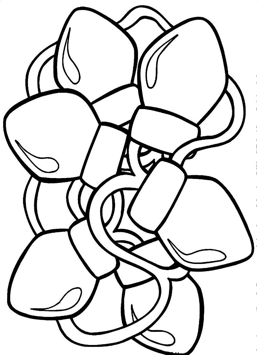 Christmas Lights Coloring Pages Activity Educative