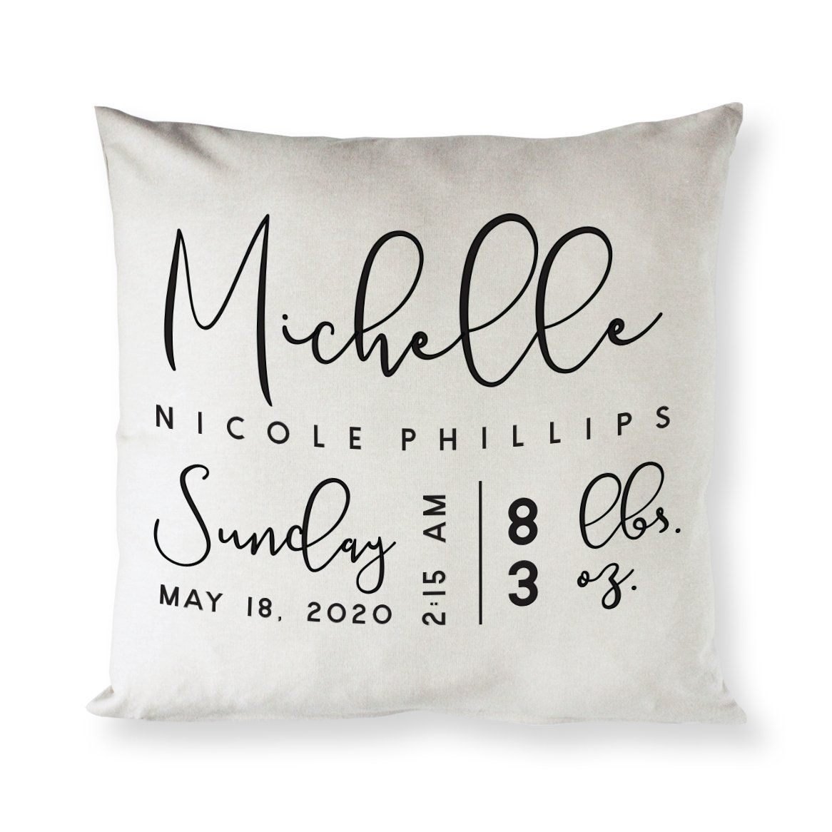 Personalized Newborn Baby Pillow Cover Personalized New Born Baby Pillow Cover Baby Cover New Newborn Baby Pillow Baby Pillows Personalized Pillow Cases
