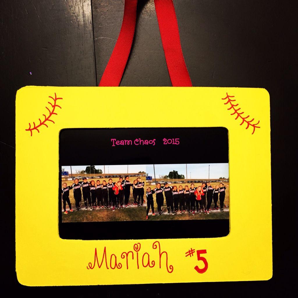 Home made softball frames for our Chaos girls! | Softball Life ...