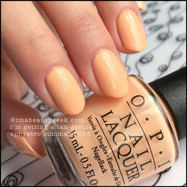 Opi Retro Summer 2016 Complete Manigeek Guide Opi Nail Colors Nails Summer Nails