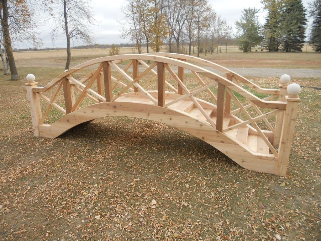 Elegant Wooden Garden Bridge Backyardgardenguidegardenbridges