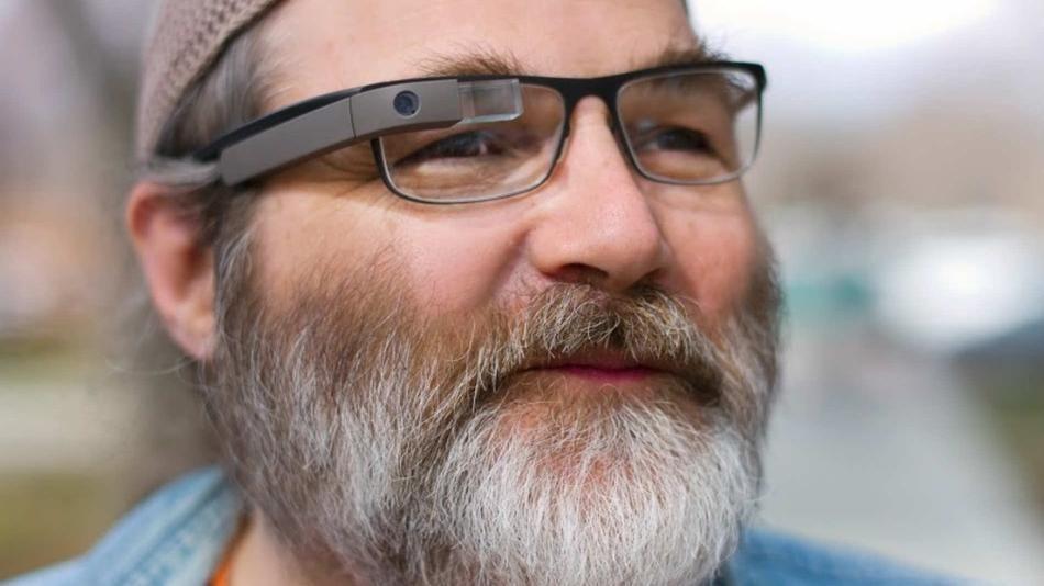 Google Glass With Prescription Lenses. Wearable Technology